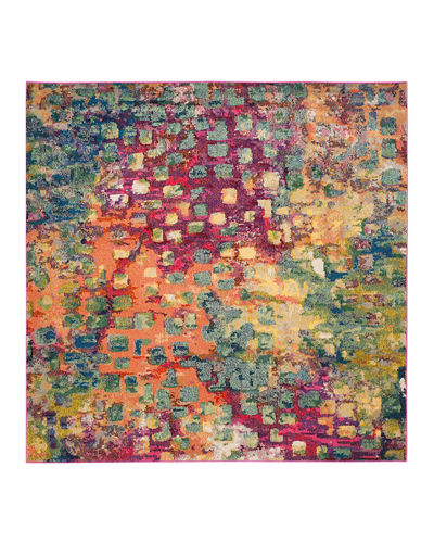"Monaco Indoor/Outdoor Rug, 6'7"" x 6'7"" Square"
