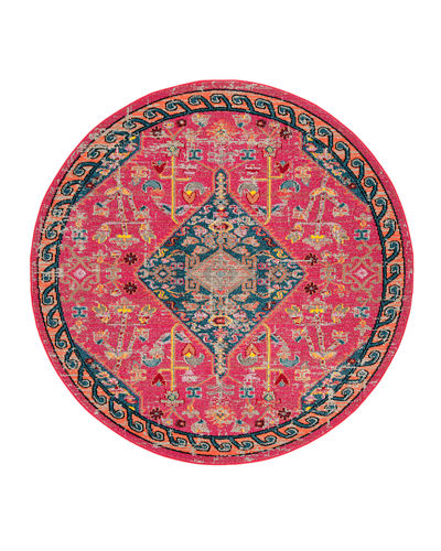 "Madison Power-Loomed Area Rug, 6'7"" Round"
