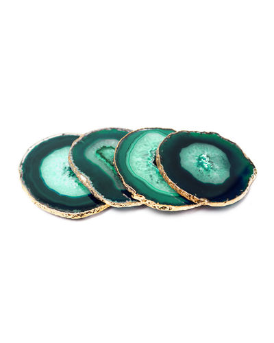 Natural Agate Stone Coasters  Set of 4