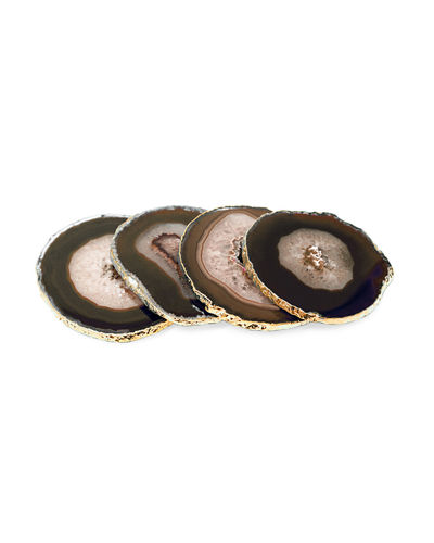 Natural Agate Stone Coasters, Set of 4