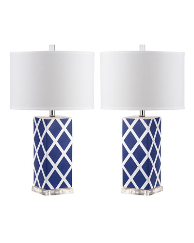 Garden Lattice Table Lamps, Set of 2