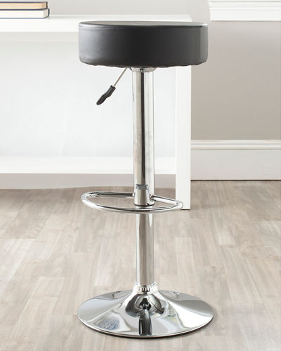 Jude Faux Leather Swivel Bar Stool