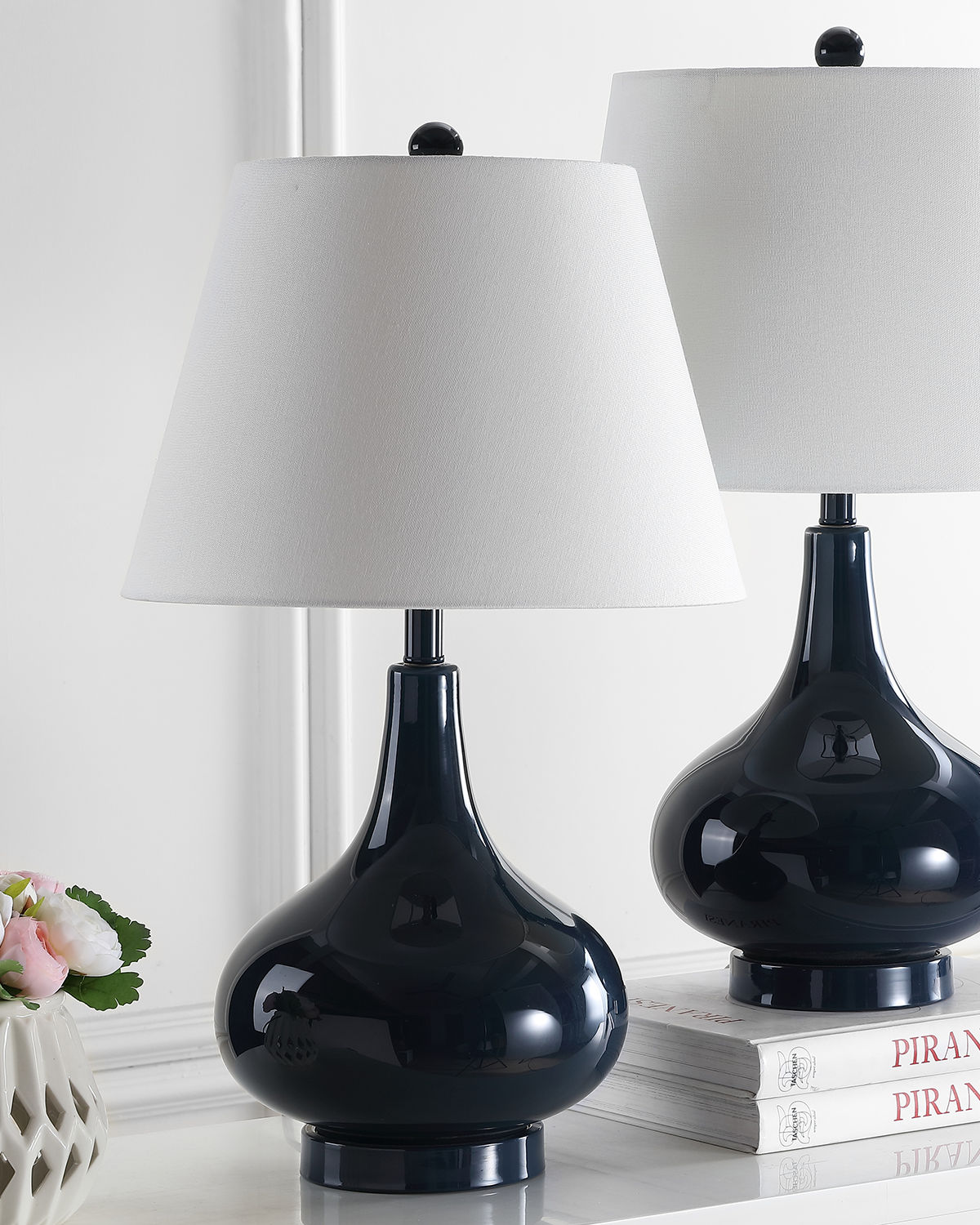 Amy Gourd Shaped Table Lamps, Set of 2