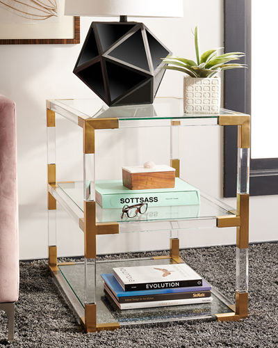 Louisa Acrylic End Table