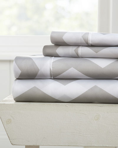 Chevron 4-Piece Bed Sheet Set  Queen