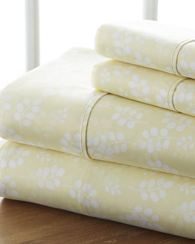 Wheat 4-Piece Bed Sheet Set  Queen