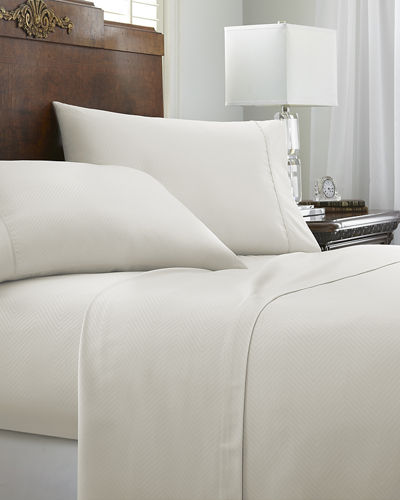 Embossed Chevron 3-Piece Bed Sheet Set, Twin