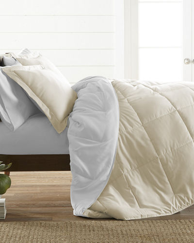 Reversible Down-Alternative Comforter  Queen