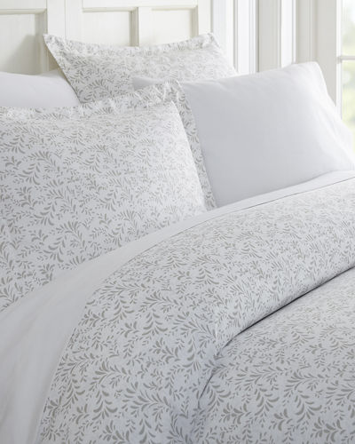 Burst of Vines 3-Piece Duvet Cover Set  Queen