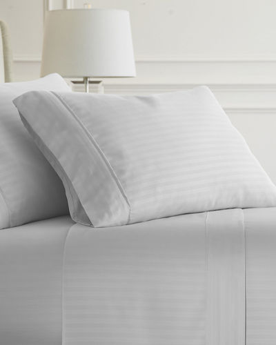 Striped Embossed 4-Piece Bed Sheet Set  California King