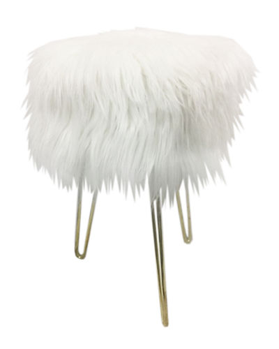 Emma Faux Fur Stool