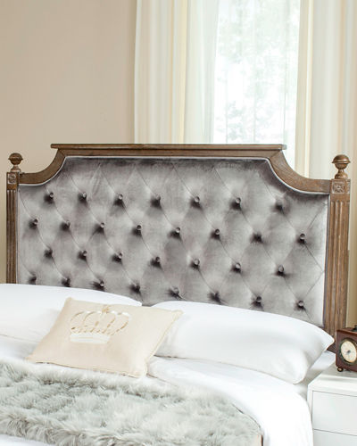Rustic Tufted Headboard  Queen