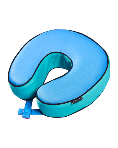 Colorblock Memory Foam Travel Pillow