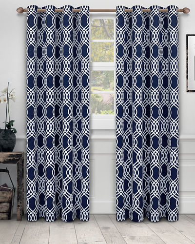 Ribbon Blackout Curtain Panel Pair  108