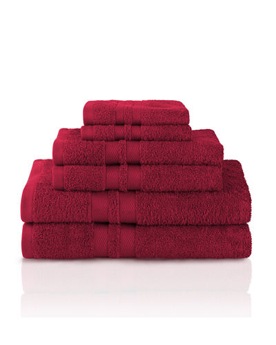 6-Piece Towel Set w/ Honeycomb Border
