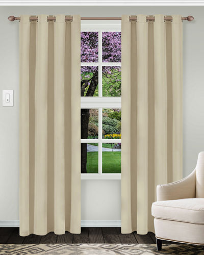 Solid Blackout Curtain Panel Pair  108
