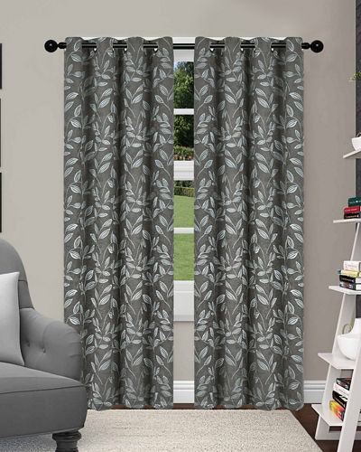 Leaves Blackout Curtain Panel Pair  84