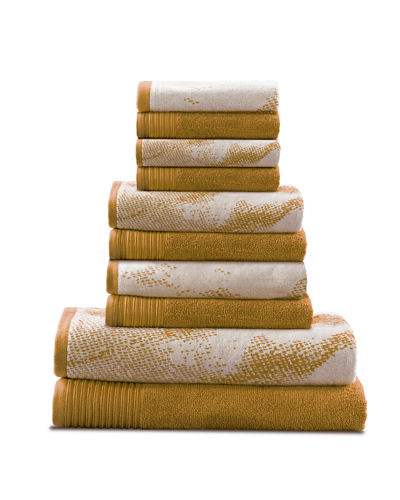 10-Piece Marble Effect Towel Set