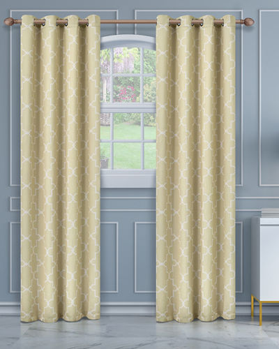 Imperial Trellis Blackout Curtain Panel Pair  63