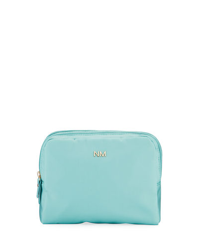 Nylon Double-Zip Cosmetic Bag