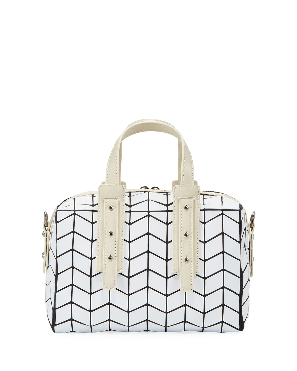 Geometric Tiled Mini Duffel Bag
