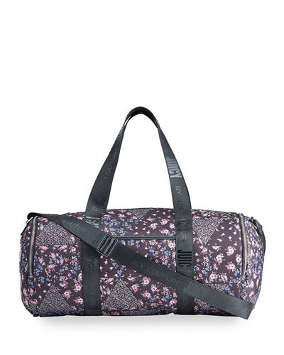 Sunset Zip-Top Patchwork Nylon Duffel Bag