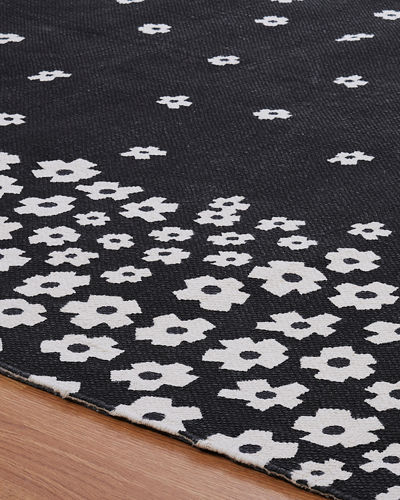 Wildflower Print Runner Rug, 2.5' x 8'