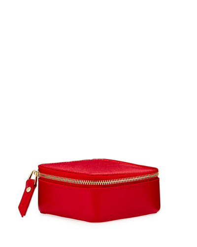 Saffiano Travel Jewelry Box Case