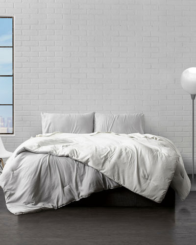 3-Piece Reversible Down-Alternative Comforter Set  King