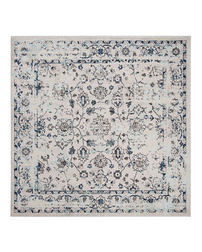 "Madison Power-Loomed Area Rug, 6'7"" Square"