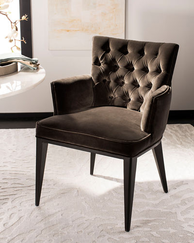 Marcene Tufted Velvet Arm Chair