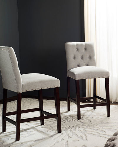 Norah Tufted Counter Stools, Set of 2