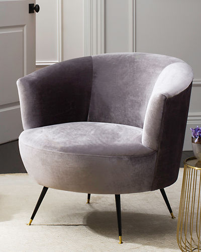 Arlette Velvet Accent Chair
