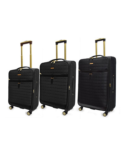 3-Piece Quilted Soft-Sided Spinner Luggage Set