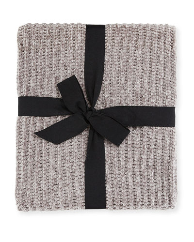 Cable Knit Chenille Throw Blanket  50 x 60