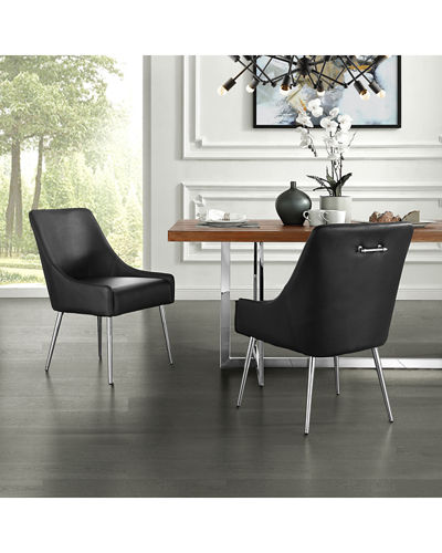 Faux Leather Dining Chairs  Set of 2