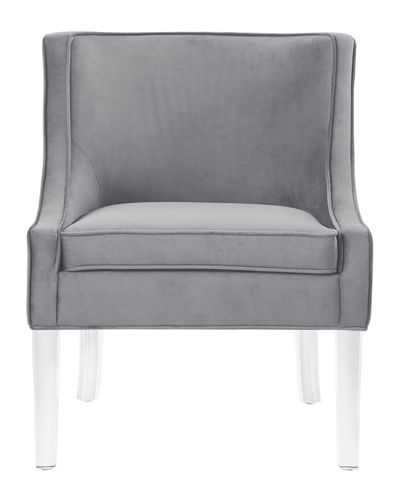 Velvet Accent Chair with Acrylic Legs