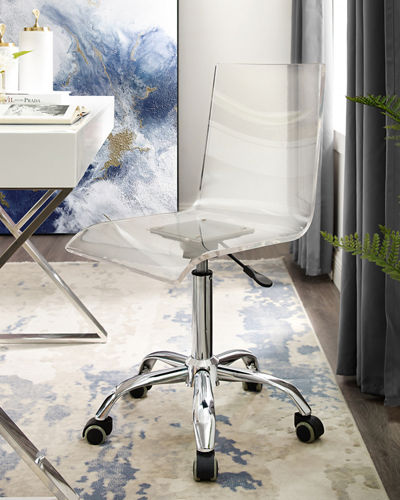 Acrylic Desk Swivel Chair