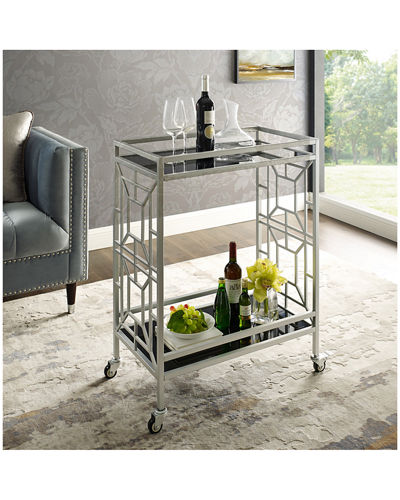 Geometric Cast Iron Bar Cart