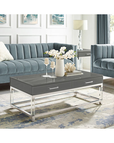 2-Drawer Coffee Table w/ Acrylic Legs