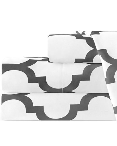 Italian 4-Piece Quatrefoil Full Sheet Set