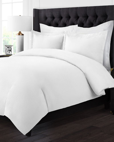 Hotel 2-Piece Chevron Twin Duvet Cover Set