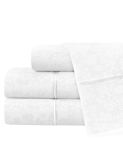 Hotel 4-Piece Floral Queen Sheet Set