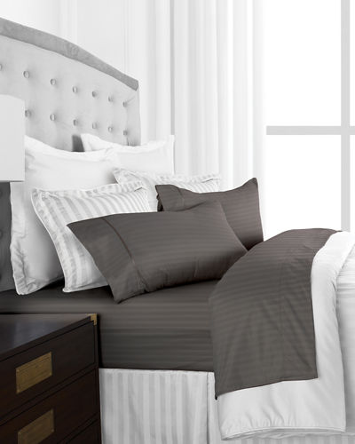 Hotel 4-Piece Striped King Sheet Set