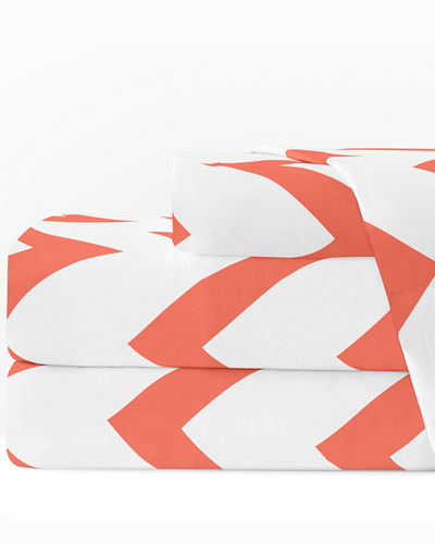 Italian 4-Piece Chevron Queen Sheet Set