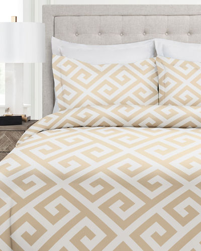 Italian 3-Piece Greek Key Queen Duvet Cover Set
