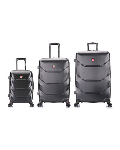 Zonix Lightweight Hardside Spinner Luggage - 3-Piece Set