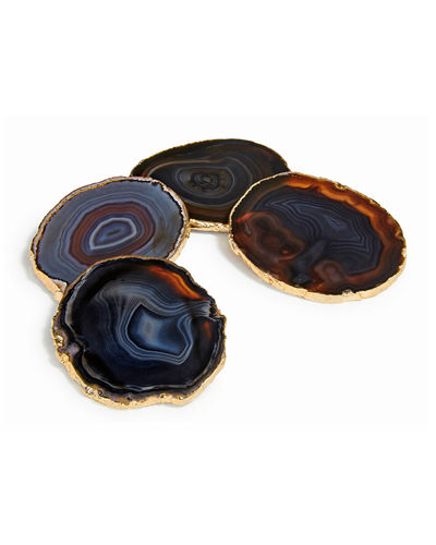Midnight Agate Lumino Coasters  4-Piece Set