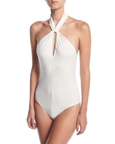 Elisa Twist-Neck Bodysuit