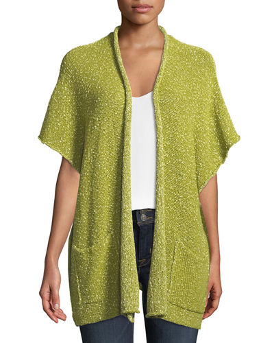 Rolled-Front Lightweight Duster Tabard Cardigan